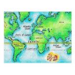 Mapa del mundo 19 postales