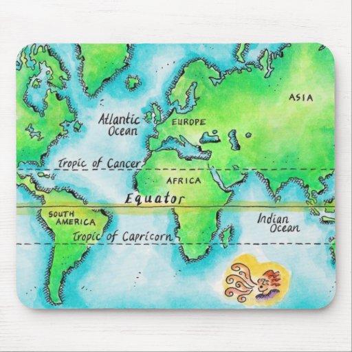 Mapa del mundo 19 tapete de raton