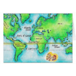 Mapa del mundo 19 tarjeta