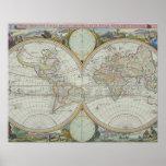 Mapa del mundo 21 póster