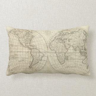 Mapa del mundo 2 2 cojin