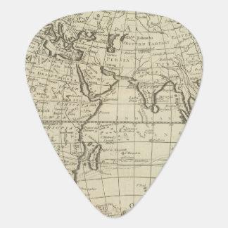 Mapa del mundo 2 2 púa de guitarra