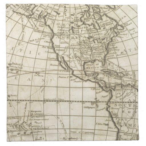 Mapa del mundo 2 2 servilleta