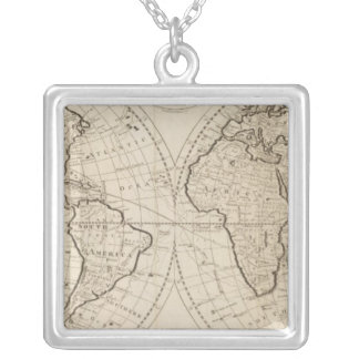 Mapa del mundo 2 colgantes