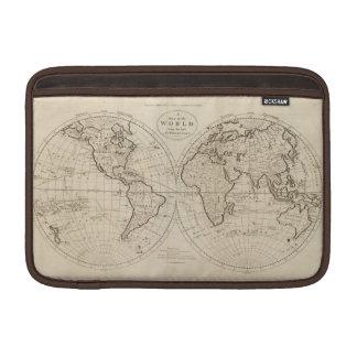 Mapa del mundo 2 fundas para macbook air