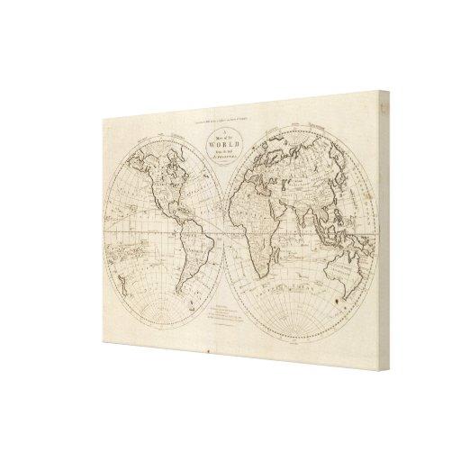 Mapa del mundo 2 impresión en lona