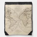 Mapa del mundo 2 mochilas