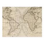 Mapa del mundo 2 postal