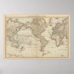 Mapa del mundo 2 poster