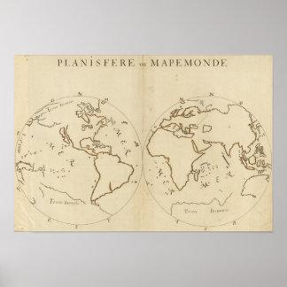 Mapa del mundo 2 póster