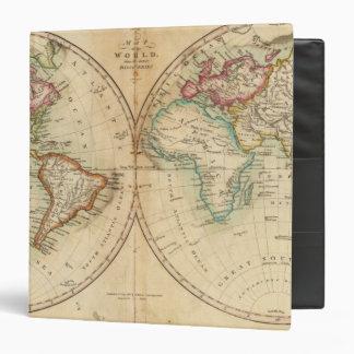 """Mapa del mundo 3 carpeta 1 1/2"""""""