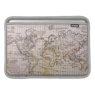 Mapa del mundo 3 fundas para macbook air
