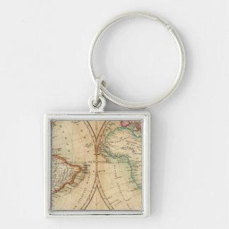 Mapa del mundo 3 llavero personalizado