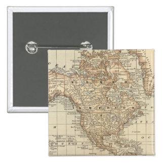 Mapa del mundo 3 pin cuadrada 5 cm