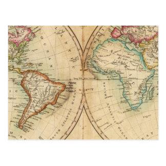 Mapa del mundo 3 postales