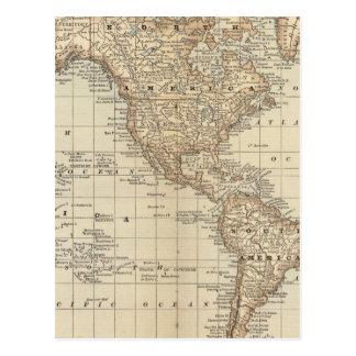 Mapa del mundo 3 tarjetas postales