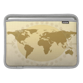 Mapa del mundo 5 funda macbook air