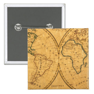 Mapa del mundo 5 pin cuadrado