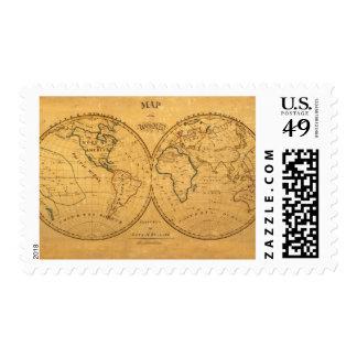 Mapa del mundo 5 sellos