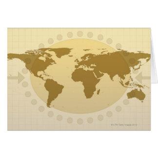 Mapa del mundo 5 felicitacion