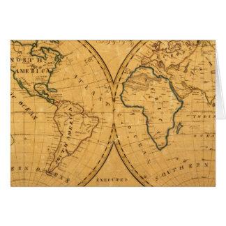 Mapa del mundo 5 tarjeta de felicitación