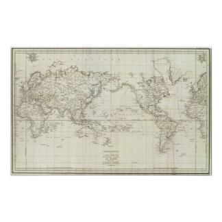Mapa del mundo 6 impresiones
