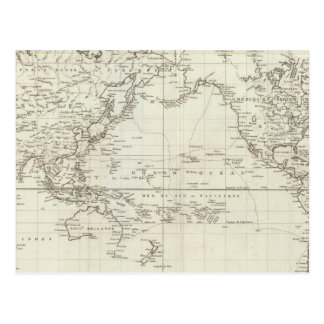 Mapa del mundo 6 postal