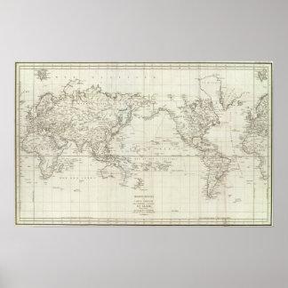 Mapa del mundo 6 póster