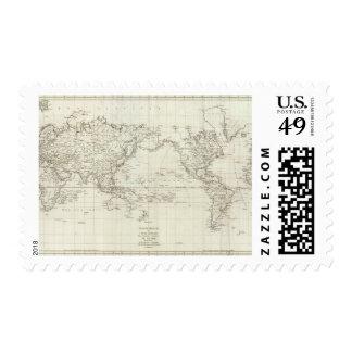 Mapa del mundo 6 sello
