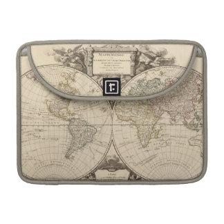 Mapa del mundo 9 funda macbook pro