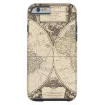 Mapa del mundo 9 funda resistente iPhone 6