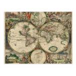 Mapa del mundo a partir de 1689 tarjetas postales