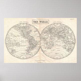 Mapa del mundo a partir de 1860 posters