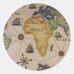 Mapa del mundo - África Pegatina Redonda