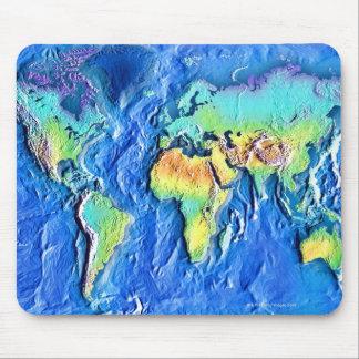 Mapa del mundo alfombrilla de ratones