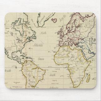 Mapa del mundo alfombrillas de ratones