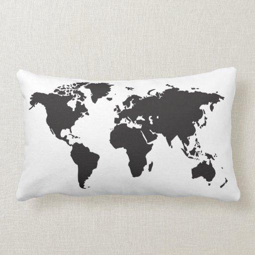 mapa del mundo almohadas
