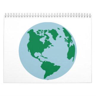 Mapa del mundo América del globo Calendario