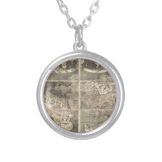 Mapa del mundo antiguo 1507 colgante personalizado