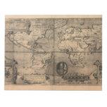 Mapa del mundo antiguo 1581 de Nicola van Sype Libretas Para Notas