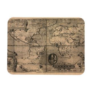 Mapa del mundo antiguo 1581 de Nicola van Sype Iman Flexible