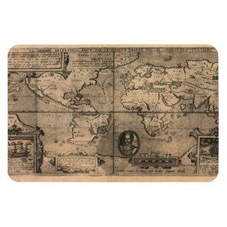 Mapa del mundo antiguo 1581 de Nicola van Sype Imán