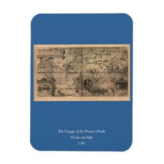 Mapa del mundo antiguo 1581 de Nicola van Sype Iman De Vinilo
