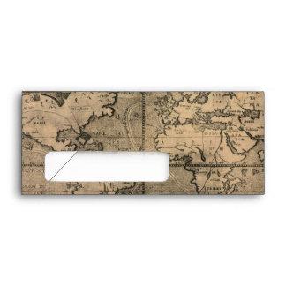 Mapa del mundo antiguo 1581 de Nicola van Sype