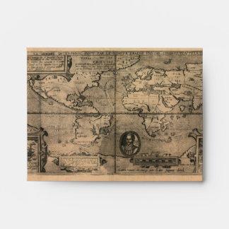 Mapa del mundo antiguo 1581 de Nicola van Sype Sobres