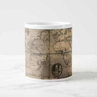Mapa del mundo antiguo 1581 de Nicola van Sype Taza Grande