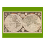 Mapa del mundo antiguo, 1799 (cocina de Thomas) Postales