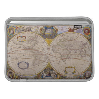 Mapa del mundo antiguo 2 fundas MacBook