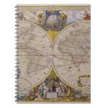 Mapa del mundo antiguo 2 libretas espirales