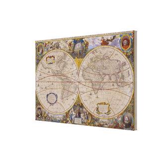 Mapa del mundo antiguo 2 impresion de lienzo